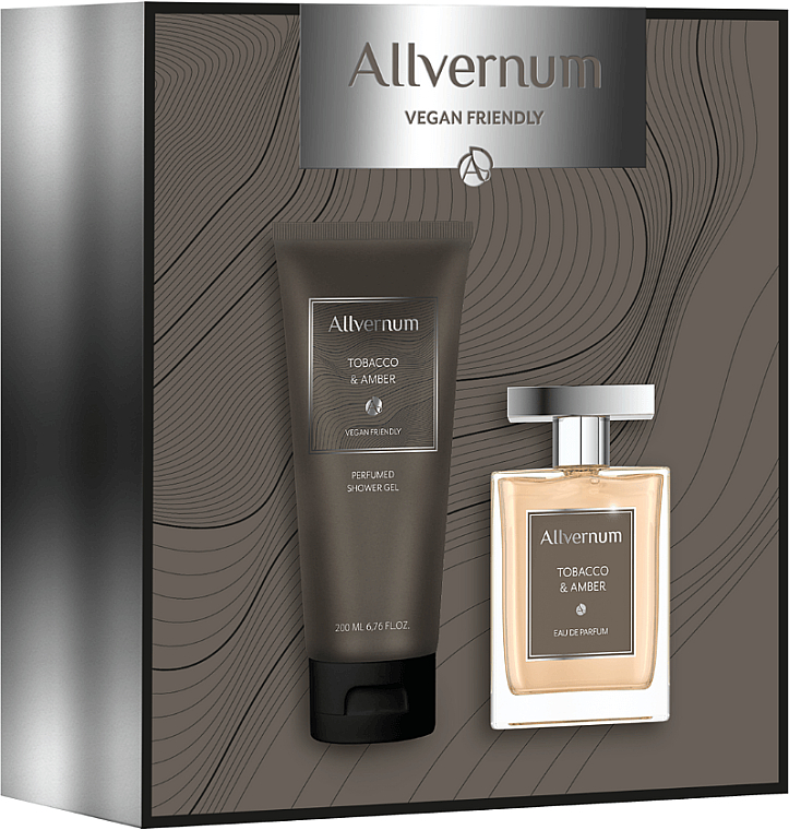 Allvernum Tobacco & Amber - Набор (edp/100ml + sh/gel/200ml)