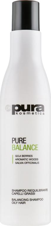Шампунь балансирующий для жирных волос - Pura Kosmetica Pure Balance Shampoo