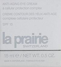 Духи, Парфюмерия, косметика Антивозрастной крем для глаз с клеточным комплексом - La Prairie Anti-Aging Eye Cream SPF 15