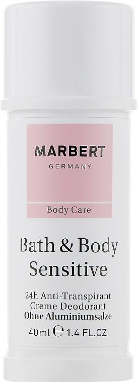 Безалюминиевый кремовый дезодорант - Marbert Bath & Body Sensitive Aluminium-free Cream Deodorant