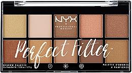 Духи, Парфюмерия, косметика Палетка теней для век - NYX Professional Makeup Perfect Filter Shadow Palette