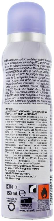 Дезодорант парфюмированный - Malizia Purple Deodorant — фото N2