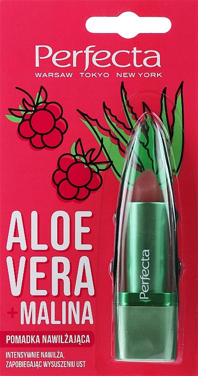 """Гигиеническая помада для губ """"Алоэ вера и малина"""" - Perfecta Aloe Vera + Raspberry"""