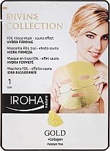 Духи, Парфюмерия, косметика Увлажняющая и питательная маска с укрепляющим эффектом - Iroha Divine Collection Gold & Collagen