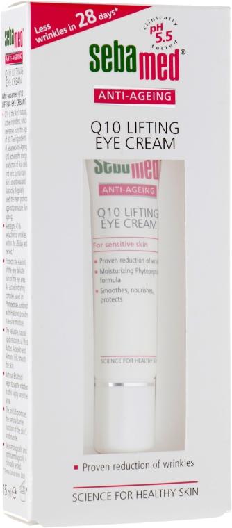 Крем-лифтинг для кожи вокруг глаз с коэнзимом Q10 - Sebamed Anti-Ageing Q10 Lifting Eye Cream