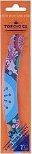 Духи, Парфюмерия, косметика Пилочка изогнутая для ногтей 200, 77593, разноцветные узоры - Top Choice