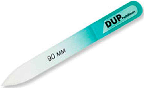 Пилочка для ногтей стекляная, 90 мм, бирюзовая - DUP