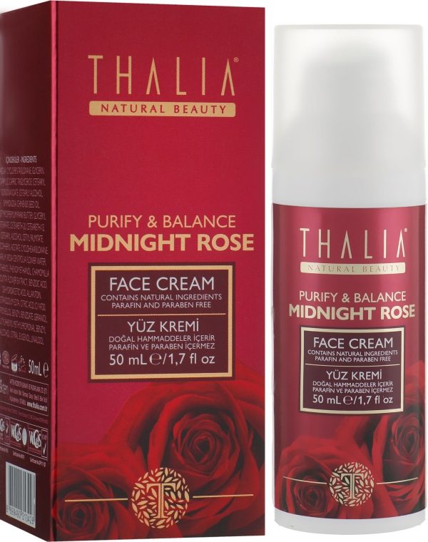 Нормализующий крем для лица с розовой водой - Thalia Midnight Rose Face Cream