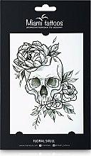 Духи, Парфюмерия, косметика Черные переводные тату - Miami Tattoos Floral Skull
