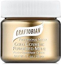 Духи, Парфюмерия, косметика Пудра с металлическим пигментом, золотая - Graftobian Powdered Metal Gold