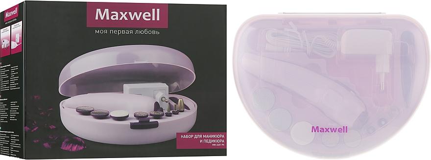 Набор для маникюра и педикюра - Maxwell MW-2601 Pink