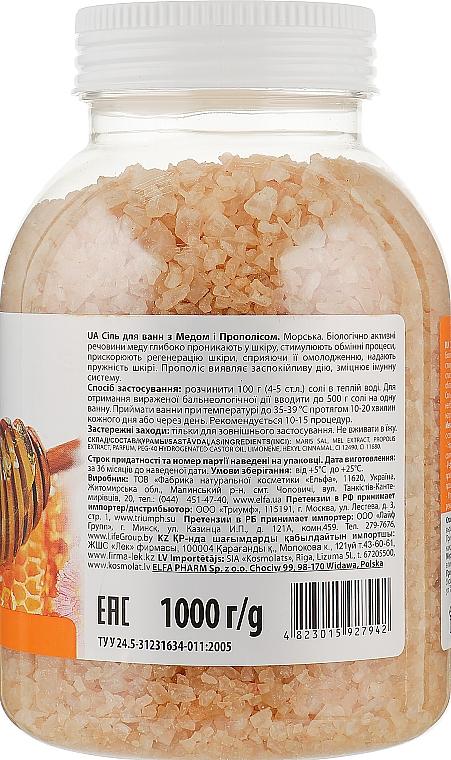 Сіль для ванн з медом і прополісом - Домашний Доктор — фото N2