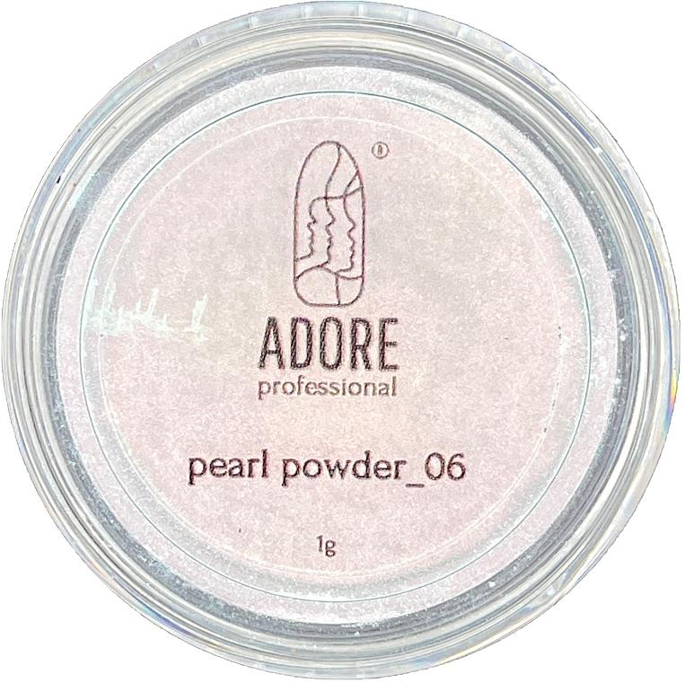 Жемчужная пудра для ногтей - Adore Professional Pearl Nail Powder