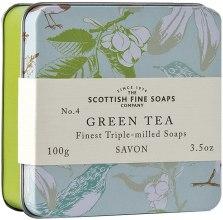 "Духи, Парфюмерия, косметика Мыло ""Зеленый чай"" - Scottish Fine Soaps Green Tea Soap In A Tin"