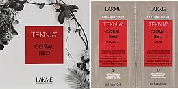 Духи, Парфюмерия, косметика Набор пробников - Lakme Teknia Color Refresh Coral Red (sh/10ml+mask/10ml)