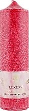 Духи, Парфюмерия, косметика Свеча из пальмового воска колонна бордовая 21,5 см - Saules Fabrika Luxury Eco Candle