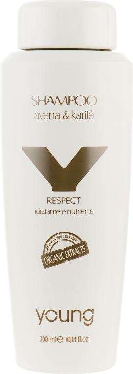Увлажняющий шампунь для волос - Young Y-Respect Avena And Karite Shampoo