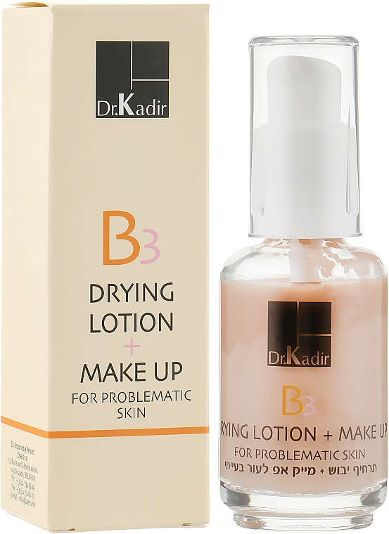 Тонирующая эмульсия для проблемной кожи - Dr. Kadir B3 Drying Lotion+Make Up For Problematic Skin