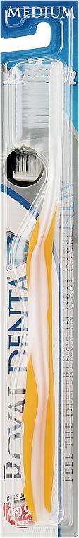 Зубная щетка средней мягкости с наночастицами серебра, оранжевая - Royal Denta Silver Medium Toothbrush