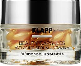 Духи, Парфюмерия, косметика Капсулы красоты с антивозрасной сывороткой для лица - Klapp Beauty Capsules Anti-Aging Serum + Vitamin A