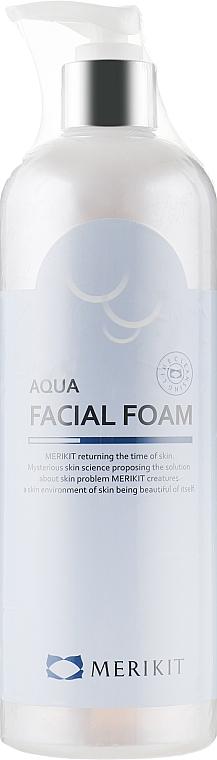 Мягкая пенка для умывания с АХА - Merikit Aqua Facial Foam