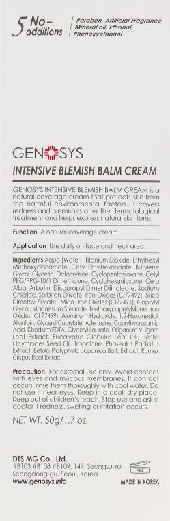 Солнцезащитный матирующий интенсивный BB крем для лица - Genosys Intensive Blemish Balm Cream SPF30 — фото N3