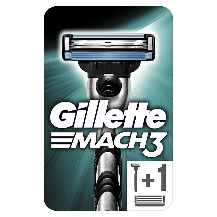 Бритва с 2 сменными кассетами - Gillette Mach3
