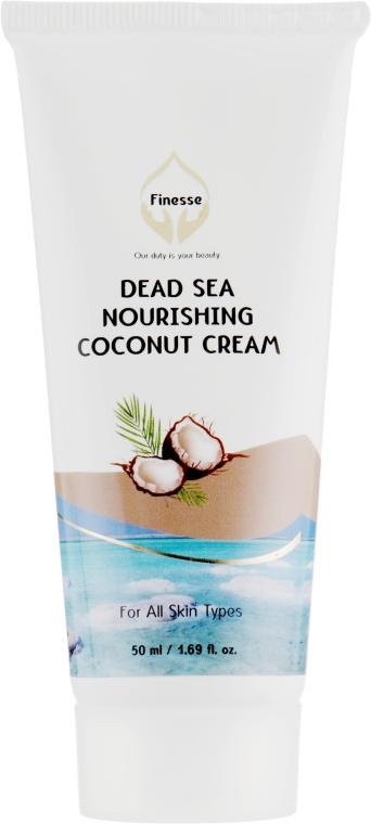 Питательный и увлажняющий крем с экстрактом кокоса - Finesse Dead Sea Nourishing Moisturizer Coconut Cream Tube