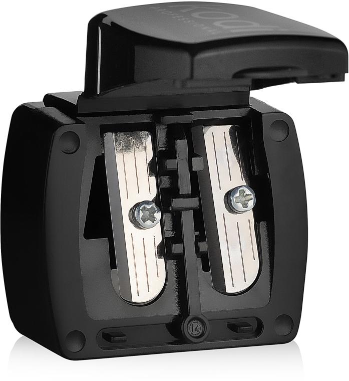 Точилка для косметических карандашей (черная глянцевая, с двумя лезвиями) - Kodi Professional