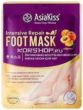 Духи, Парфюмерия, косметика Восстанавливающая маска-носки для ног с экстрактом абрикоса - AsiaKiss