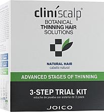 Духи, Парфюмерия, косметика Система интенсивная для редеющих натуральных волос - Joico Cliniscalp 3-step Trial Kit For Natural Hair Advanced Stages (shmp/100ml + cond/100ml + treat/50ml)