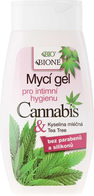Гель для интимной гигиены - Bione Cosmetics Cannabis Intimate Lactic Acid and Tea Tree Wash Gel