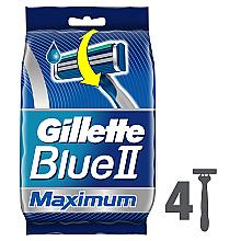 Духи, Парфюмерия, косметика Набор одноразовых станков для бритья, 4шт - Gillette Blue II Maximum