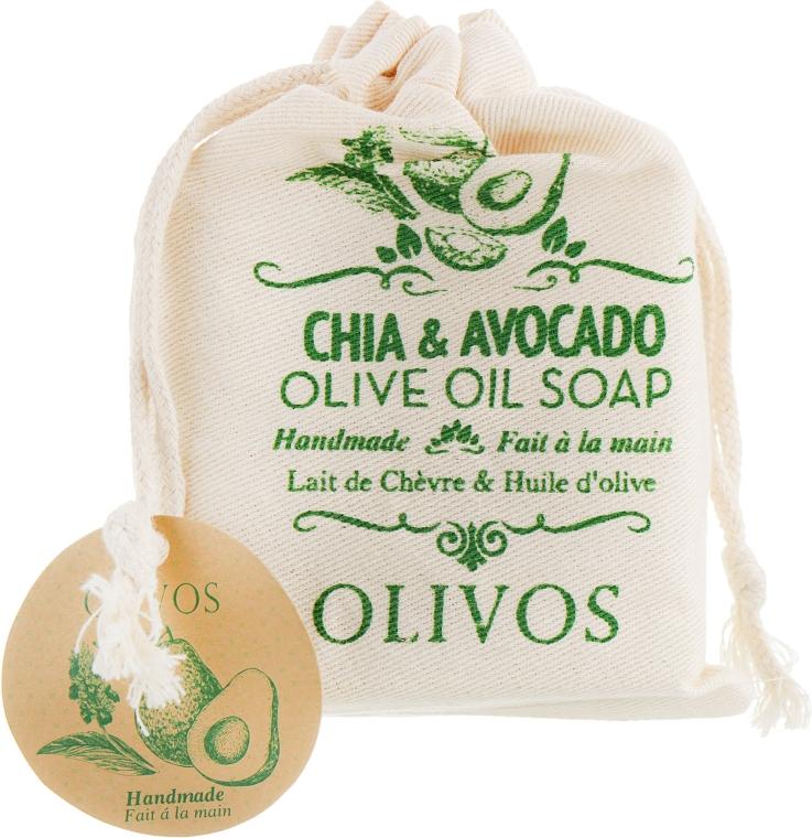 """Натуральное оливковое мыло """"Масло авокадо и семена чиа """" - Olivos Chia & Avocado Olive Oil Soap"""
