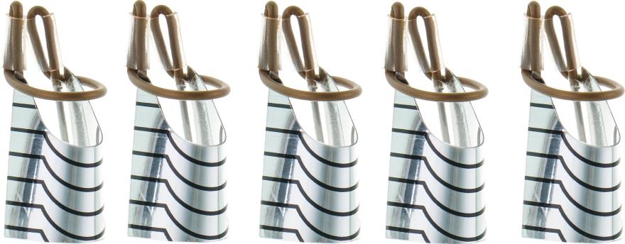 Формы многоразовые для наращивания ногтей, серебро - Nails Molekula
