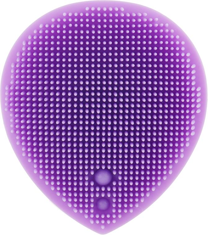 Массажер для умывания и очищения кожи лица, фиолетовый - Omkara