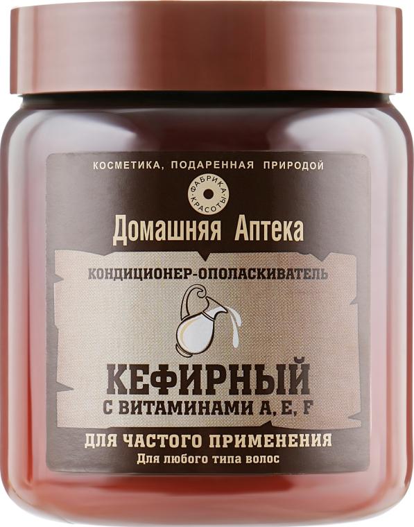 Кондиционер-ополаскиватель Кефирный с витаминами A,E,F - Фабрика красоты Домашняя Аптека