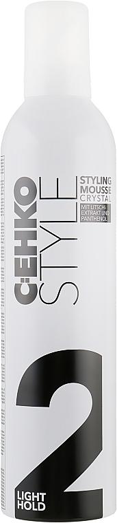 """Пена для укладки волос """"Кристал"""" c экстрактом личи, нормальная фиксация - C:EHKO Style Styling Mousse Crystal (2)"""