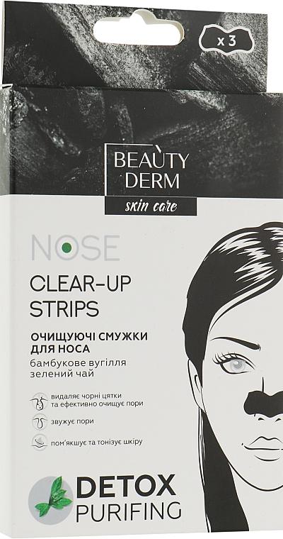 Очищающие полоски для носа с бамбуковым углем - Beauty Derm Nose Clear-Up Strips