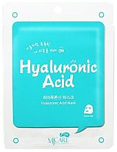 Духи, Парфюмерия, косметика Тканевая маска для лица с гиалуроновой кислотой - Mijin MJ Care Hyaluronic Acid Mask