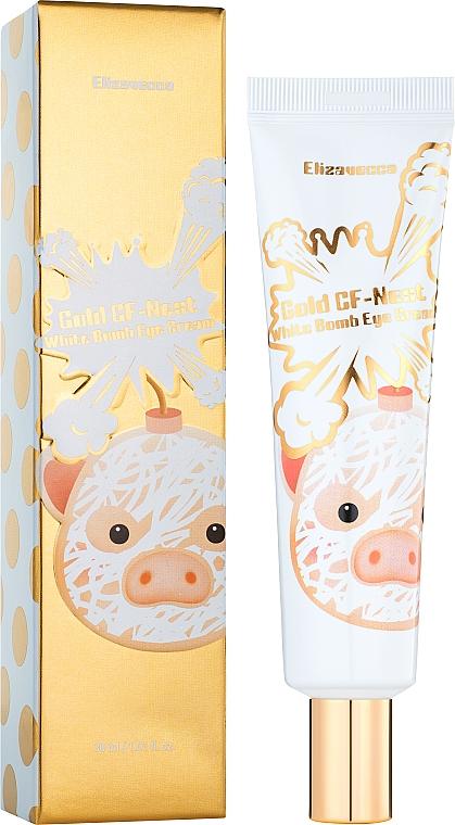 Крем для глаз с экстрактом ласточкиного гнезда - Elizavecca Face Care Gold CF Nest White Bomb Eye Cream