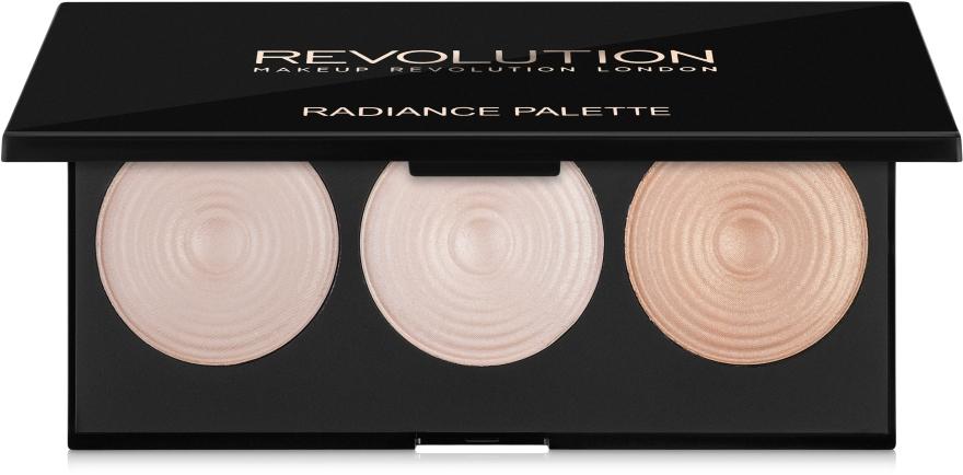 Палитра осветляющих хайлайтеров для лица - Makeup Revolution Highlighter Palette Radiance