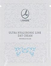 Духи, Парфюмерия, косметика Дневной крем для заполнения морщин - Lambre Ultra Hyaluronic (пробник)