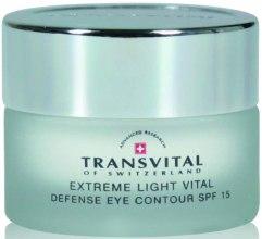 Духи, Парфюмерия, косметика Осветляющий крем для чувствительной кожи вокруг глаз - Transvital Extreme Light Vital Defence Eye Contour SPF15