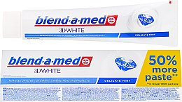 "Духи, Парфюмерия, косметика Зубная паста ""Нежная мята"" - Blend-a-med 3D White Delicate Mint Toothpaste"