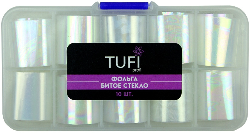 Фольга битое стекло в боксе - Tufi Profi