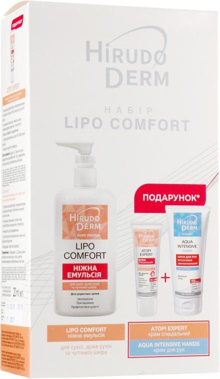 Набор - Hirudo Derm Lipo Comfort (emul/400ml+h/cr/60ml+cr/20ml)