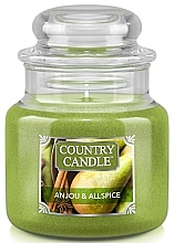 Духи, Парфюмерия, косметика Ароматическая свеча в банке - Country Candle Anjou & Allspice