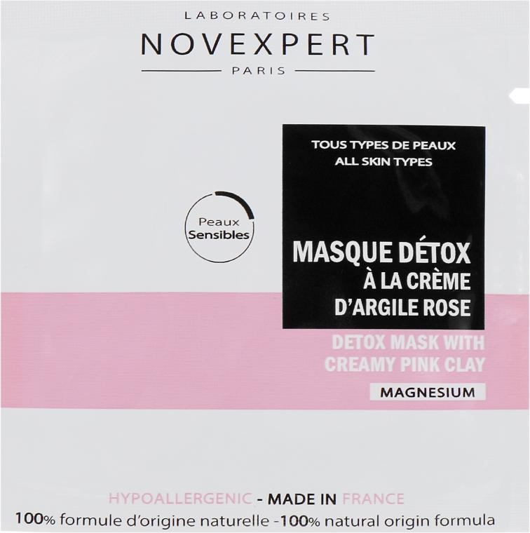 Маска детокс для лица с розовой глиной - Novexpert Magnesium Mask Detox With Creamy Pink Clay (пробник)