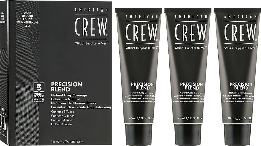 Система маскировки седины (уровень 2-3) 3x40 мл - American Crew Precision Blend Dark